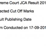 Supreme Court Assistant Result 2018 Cut Off Marks Merit List Technical Asst