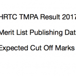 HRTC TMPA Result 2017 Merit List Cut Off Marks Expected