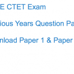 CTET Previous Years Question Paper Download Solved PDF CBSE