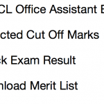 UPPCL Office Assistant Cut Off Marks 2017 Result Stenographer
