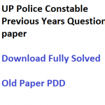 UP Police Constable Previous Years Question Paper Download Solved
