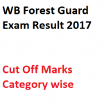 WB Forest Guard Cut Off Marks 2017 Result Expected Merit List Date