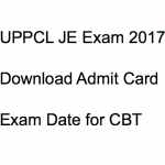 UPPCL JE Admit Card 2017-18 Exam Date Hall Ticket Download