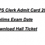 IBPS Clerk Admit Card 2017 Prelims Exam CWE VII Hall Ticket