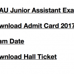 TNAU Junior Assistant Admit Card 2017 Exam Date Hall Ticket Download