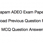 CG Vyapam ADEO Previous Years Question Paper Download PDF