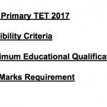 WB Primary TET 2017 Eligibility Criteria Qualification HS Marks WBBPE