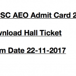 TSPSC AEO Admit Card 2017 Hall Ticket Download Exam Date