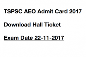 tspsc aeo admit card 2017 hall ticket download expected publishing date telangana psc assistant extension officer grade 2