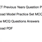 WB Primary TET Previous Question Paper Download Solved PDF Old