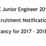 SSC JE Recruitment Notification 2017 Junior Engineer Vacancy