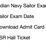 Indian navy sailor admit card ssr hall ticket 2017 2018 written test senior secondary recruits publishing date call letter