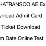 MAHATRANSCO AE Admit Card 2017 Download Exam Date Hall Ticket