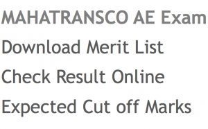 mahatransco ae result 2017 2018 merit list check online expected cut off marks publishing date assistant engineer civil trans