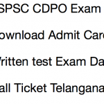 TSPSC CDPO Admit Card 2017 Exam Date Hall Ticket Download