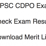 TSPSC CDPO Result 2017 Cut Off Marks Merit List Publishing Date
