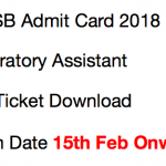 JKSSB Laboratory Assistant Admit Card 2017 Exam Date Download 2018