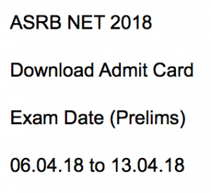 asrb net admit card 2018 exam date hall ticket download ars national eligibility test agricultural research services prelims test