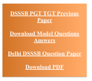 dsssb pgt tgt previous years question paper download solved hindi english language model mcq questions answers old set delhi dsssb solved with answer key sample practice set