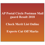AP Postman Result 2018 Cut Off Marks appost.in Postal Circle