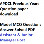 APDCL Previous Years Question Paper AM JM Download Solved PDF