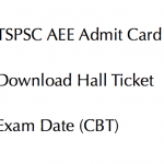 TSPSC AEE Admit Card 2017 Hall Ticket Download Executive Engineer Exam Date