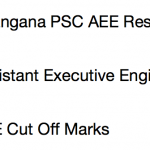 TSPSC AEE Result 2017 Cut Off Marks Merit List Assistant Executive Engineer