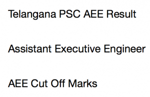 tspsc aee result 2017 telangana psc assistant executive engineer merit list cut off marks expected
