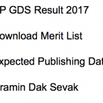 UP GDS Result 2017 Gramin Dak Sevak Merit List Download Date Postal