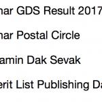 Bihar GDS Result 2017 Cut Off Marks Merit List Expected Date