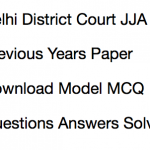 Delhi Junior Judicial Assistant Previous Years Question Paper Download