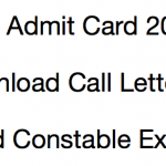 ITBP Head Constable Admit Card 2017 Download Exam Date HC