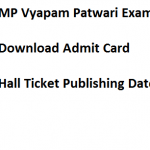 MP Vyapam Patwari Admit Card 2017 Download Hall Ticket Date