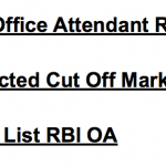 RBI Office Attendant Result 2017 Cut Off Marks Merit Result Date