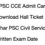 BPSC CCE Admit Card 2017 18 Download Exam Date 63rd Civil Service