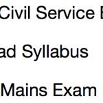 OPSC Civil Service Syllabus 2017-18 OCS Exam Prelims Mains Pattern