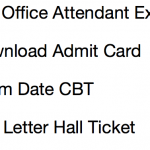 RBI Office Attendant Admit Card 2017 Download Exam Date rbi.org.in