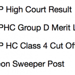 MP High Court Peon Result 2017 Cut Off Marks Group D Merit List MPHC