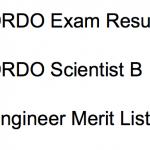 DRDO Result 2017-18 Scientist B Cut Off Marks Merit List