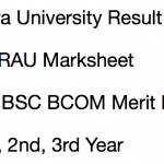 Agra University Result 2018 BA BSC BCOM 1st 2nd 3rd Year DBRAU