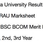 Agra University Result 2018 BA BSC BCOM 1st 2nd 3rd Year DBRAU