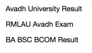 rmlau avadh university result 2018 merit list 1st 2nd 3rd year part I II III ram manohar lohia univ ba bsc bcom bed