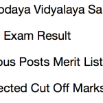 NVS Result 2017-18 Cut Off Non Teaching Post Navodaya Vidyalaya