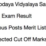 NVS Result 2017-18 Cut Off Non Teaching Post Navodaya Vidyalaya