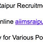 AIIMS Raipur Recruitment 2017-18 Vacancy Hospital Lab Attendant