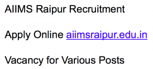 aiims raipur recruitment 2017 2018 notification advertisement application form vacancy hospital lab attendant