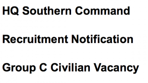 hq southern command recruitment notification 2017 2018 vacancy application form group c posts ldc lower division clerk tradesman mate fireman headquarters pune vacancy