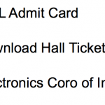 ECIL Admit Card 2018 Engineer GET Download Exam Date Hall Ticket