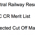 Central Railway Result 2018 Junior Clerk Typist Cut Off Marks RRCCR