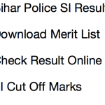 Bihar Police SI Cut Off Marks 2017 Result BPSSC Expected Merit List